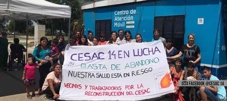 """CeSAC N°14: """"No hay condiciones dignas para atender ni ser atendido"""""""