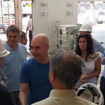 Horacio Rodríguez Larreta visitó las obras del Cine El Plata