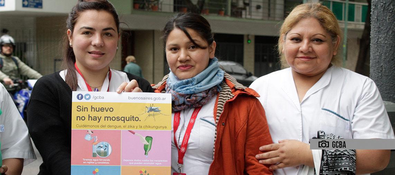 Charla de prevención sobre el dengue en la Comuna 9
